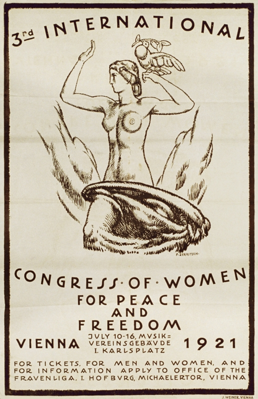 3. International Congress of Women for Peace and Freedom - Vienna 1921. (3. Internationaler Frauenkongress für Frieden und Freiheit), ÖNB Bildarchiv und Grafiksammlung