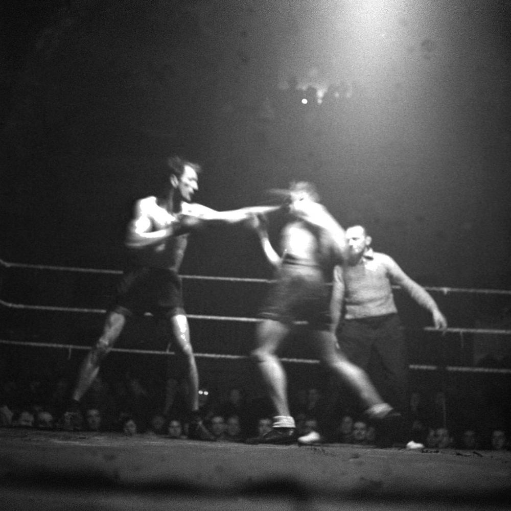 Profi-Boxkampf zwischen Kid Rado und Hans Norbert in den Sofiensälen.