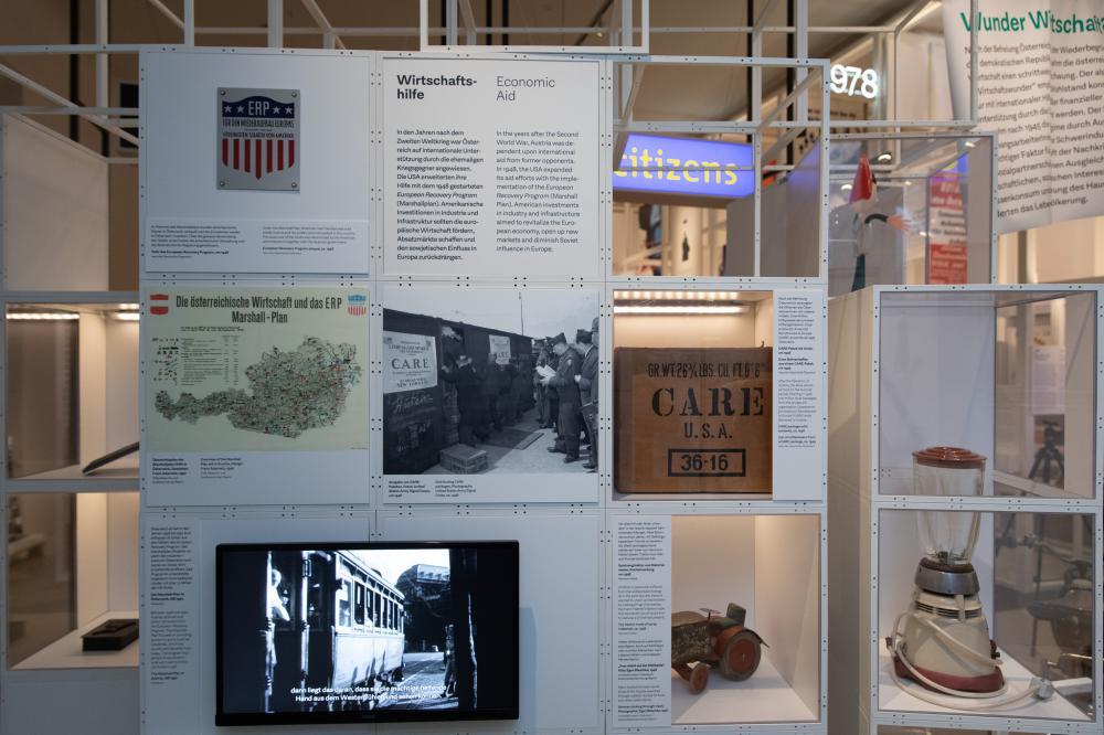 Ausstellungsobjekte zum Thema Wirtschaft nach 1945