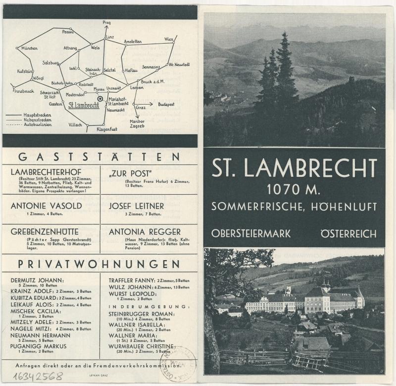 Werbebroschüre St. Lambrecht, Steiermark