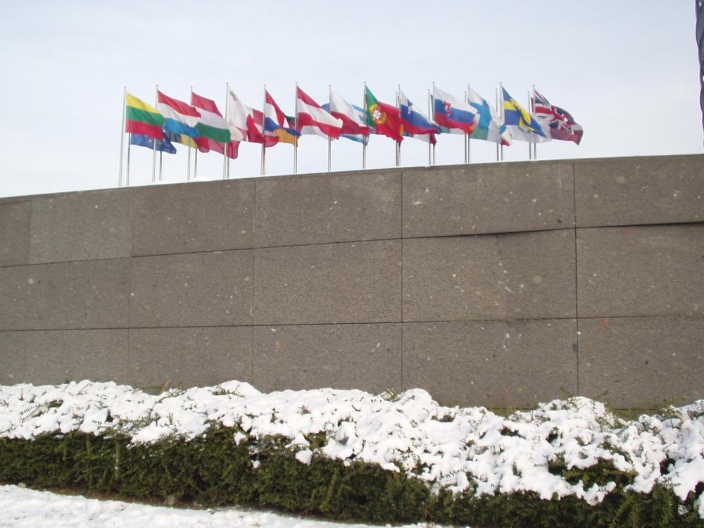 Außenbereich des europäischen Parlaments in Straßburg
