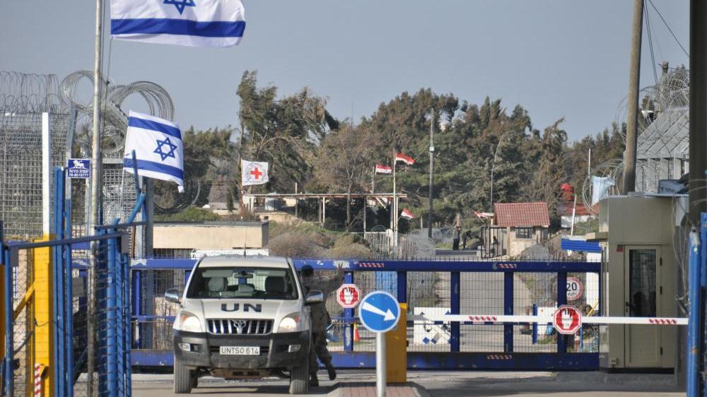 Von österreichischen UN-Truppen kontrollierter Grenzübergang zwischen Syrien und Israel