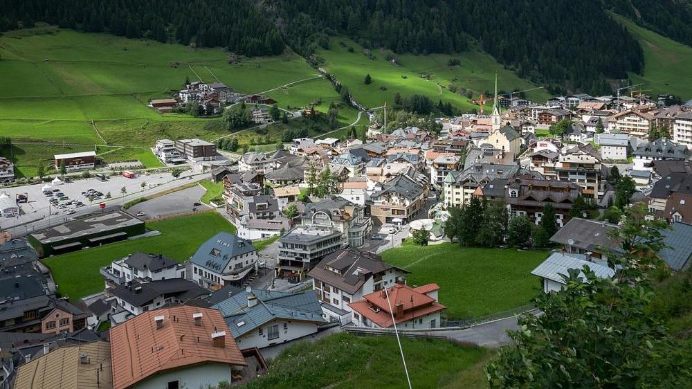Aktuelle Ansicht des Tourismusortes Ischgl