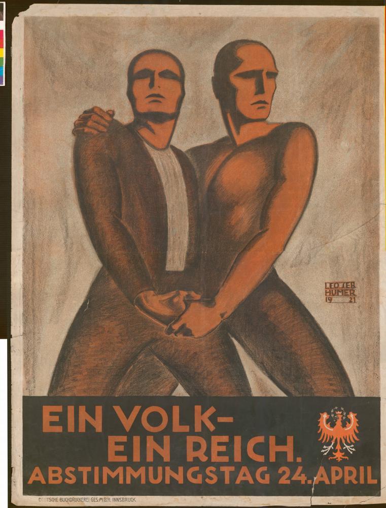 """""""Ein Volk – ein Reich"""", Plakat, 1921"""