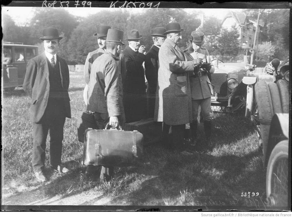 Österreichische Deligierte in Saint-Germain-en-Laye, 14.05.1919