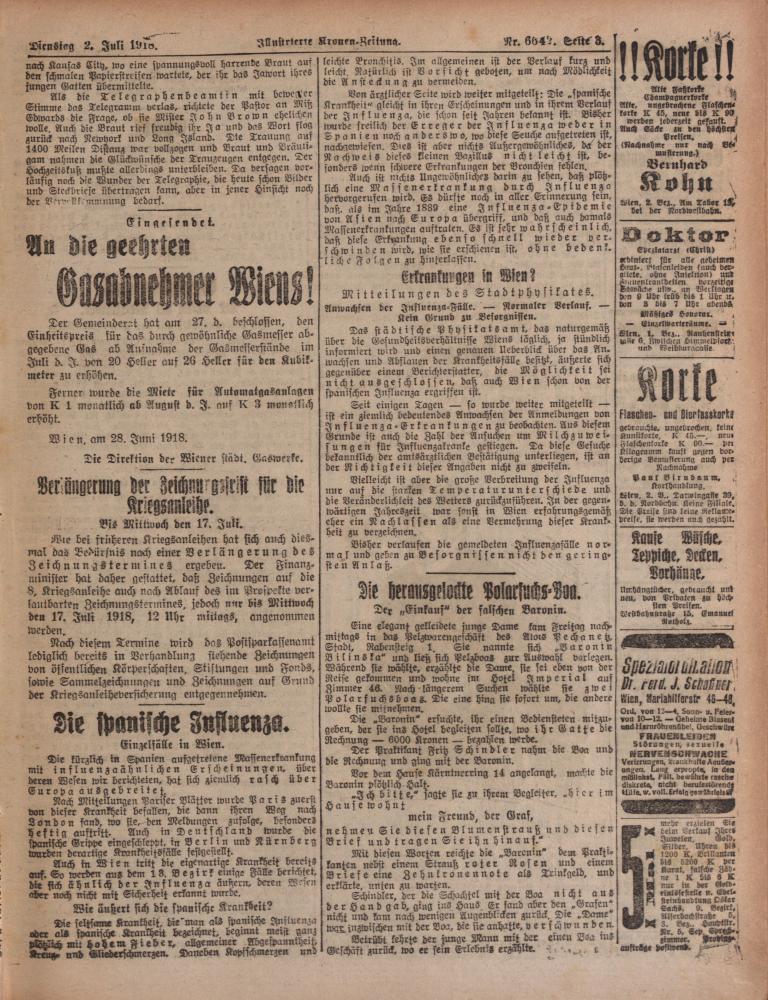 """Zu sehen ist eine Seite der """"Illustrierten Kronen Zeitung""""."""